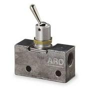ARO 223-C Manual Air Control Valve, 3-Way, 1/8in NPT