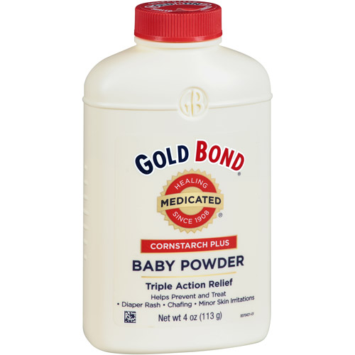 Gold Bond Cornstarch Plus Medicated Triple Action Relief Baby Powder, 4 oz