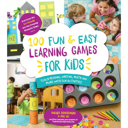 100 Fun & Easy Learning Games for Kids : Teach Reading, Writing, Math and More With Fun Activities (Halloween Printable Reading Activities)