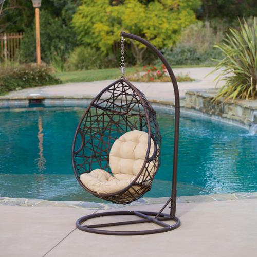 Christopher Knight Home Outdoor Brown Wicker Tear Drop Chair by by Overstock