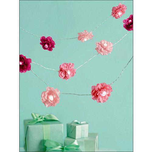 Martha Stewart Celebrate Lighted Garland, Pink