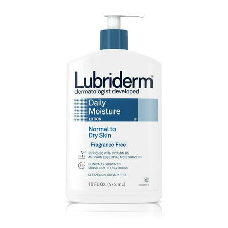 (3 pack) Lubriderm Daily Moisture Body Lotion, Fragrance-Free, 16 fl. oz