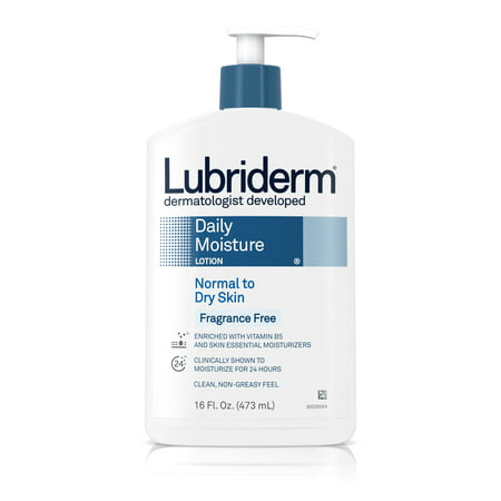 (3 pack) Lubriderm Daily Moisture Body Lotion, Fragrance-Free, 16 fl. oz