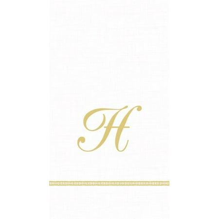 Monogram Initial H Paper Guest Napkins 15pk (Monogramed Napkins)