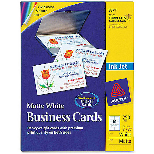 Avery 8371 Perforated Inkjet Business Card