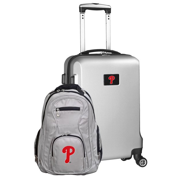 Philadelphia Phillies Deluxe 2-Piece Backpack and Carry-On Set - Silver