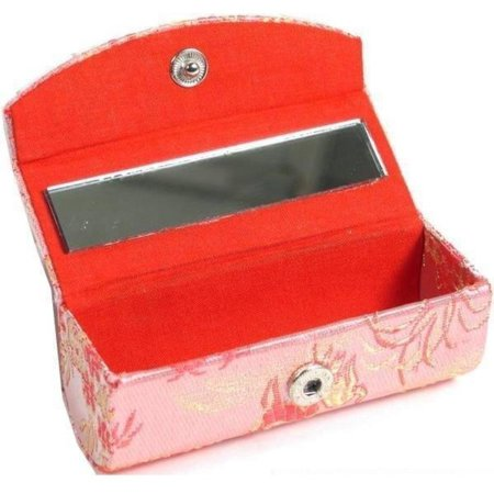 Lipstick Case Mirror (Brocade Lipstick Case & Mirror Cosmetics Makeup Compact by FindingKing )
