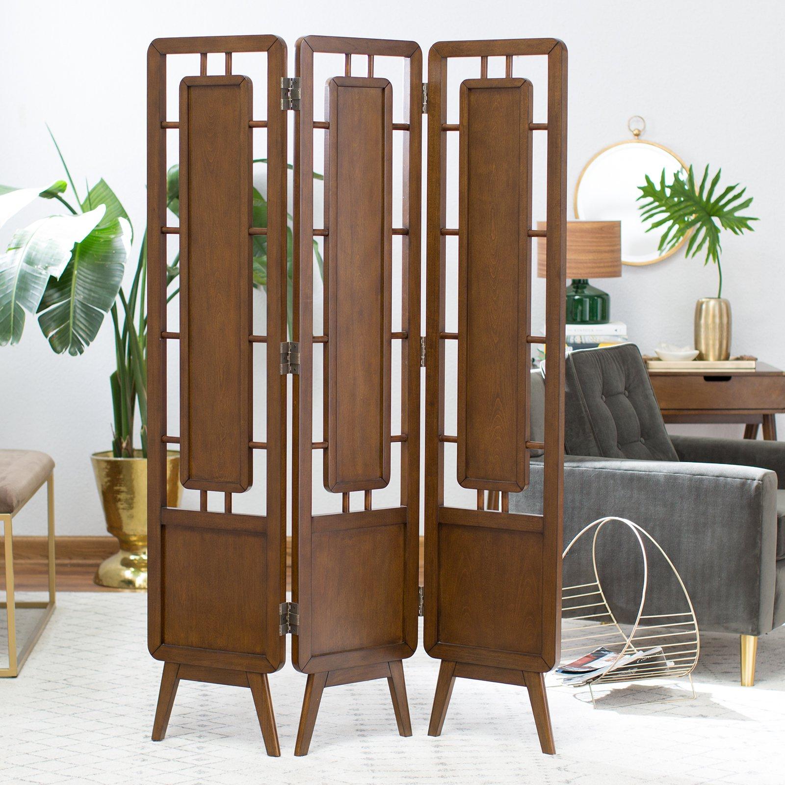Belham Living Carter Mid Century Modern 3-Panel Room Divider