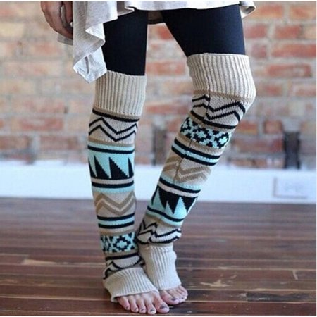 Hot New Fashion Women Knee High Christmas Socks 1 Pairs Holiday Fun Stocking Stuffers - image 2 of 5