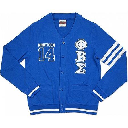 Phi Beta Sigma Divine 9 S2 Mens Cardigan  Royal Blue   2Xl