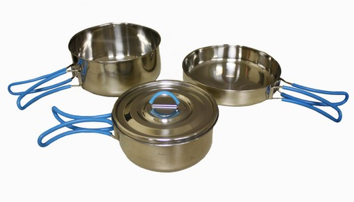 Stansport Stainless Steel Cook Set by Stansport