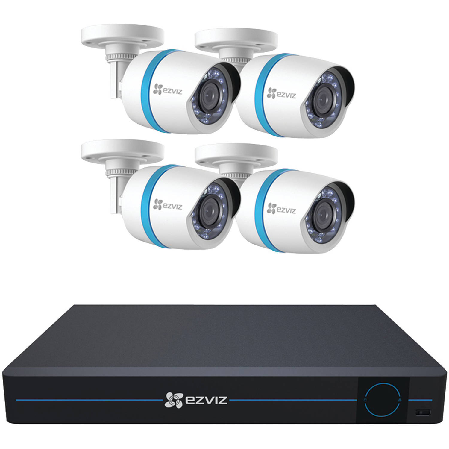 Ezviz 8-Channel 1080p IP Security System with 2TB HDD and 4 Weatherproof 1080p PoE Bullet IP Cameras