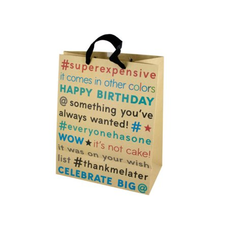 DD Large Birthday Editorial Craft Paper Gift Bagpack Of 36