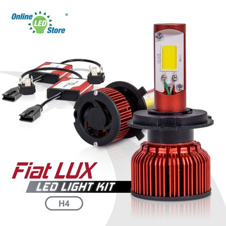 Ols Fiat Lux H4  9003  72W High Low Beam Led Headlight Bulbs Conversion Kit