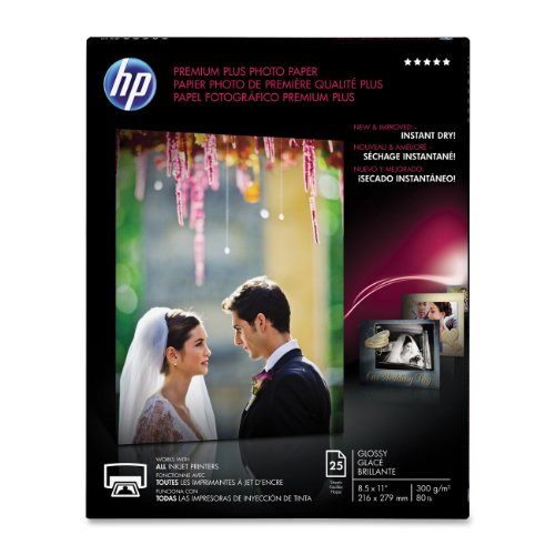 HP Premium Plus Photo Paper, Glossy, A, 25 Sheets (CR670A)