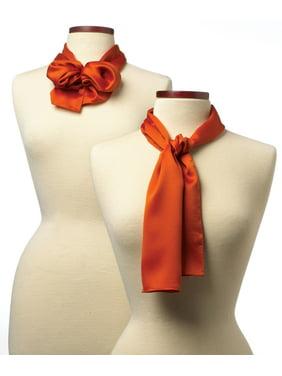 10x54 Solid Color Silk Scarf - Orange