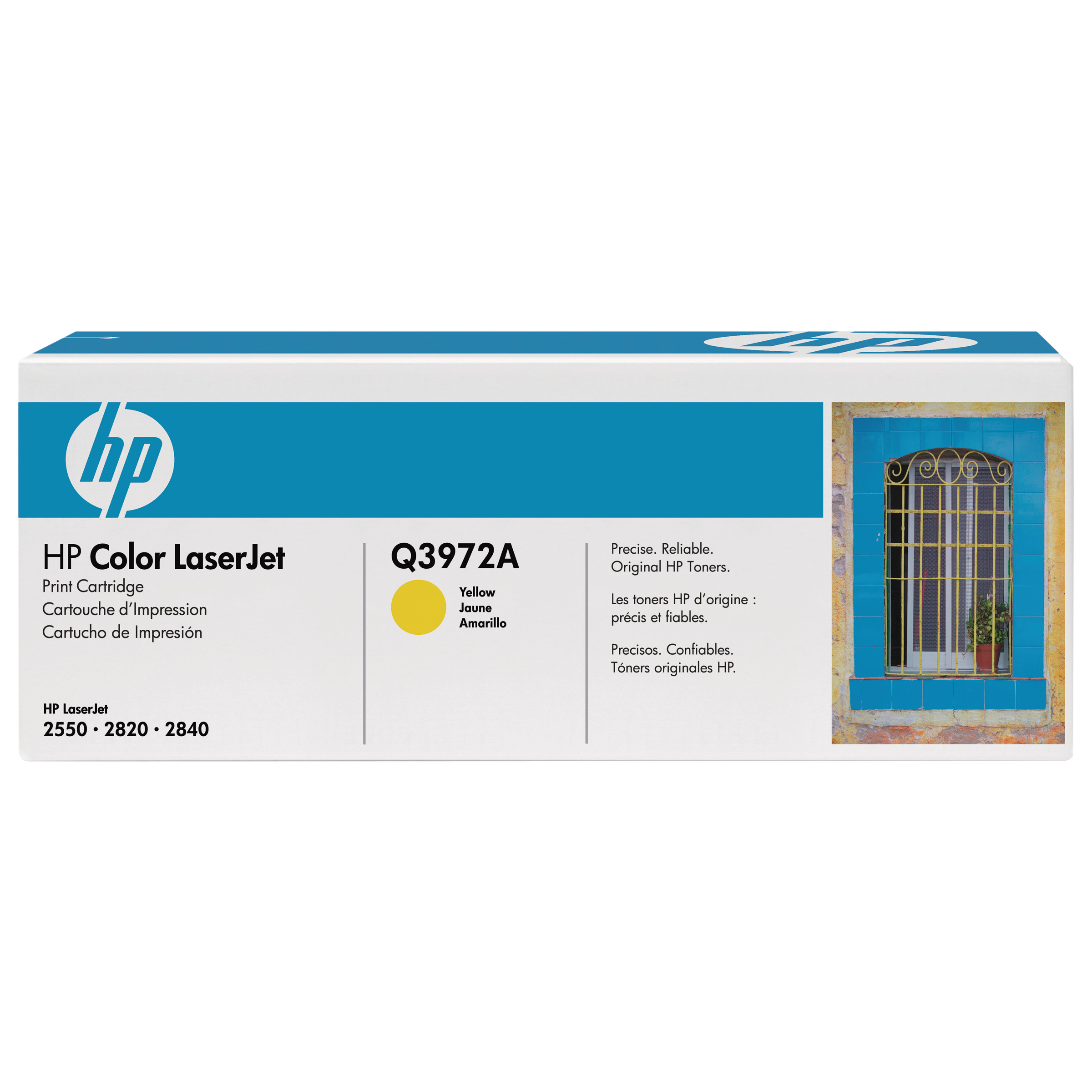 HP 123A, (Q3972A) Yellow Original LaserJet Toner Cartridge -HEWQ3972A