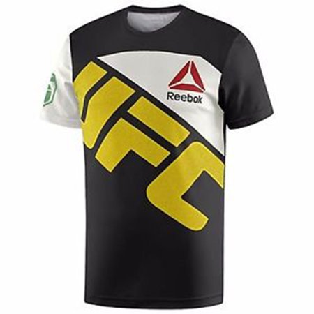 - Men's Reebok UFC  Fight Knit Jose Aldo Jersey Black / Chalk ah7922