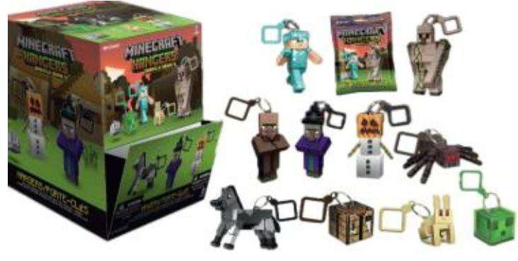 Minecraft Hangers Series 3 Blind Mystery Packs x 5