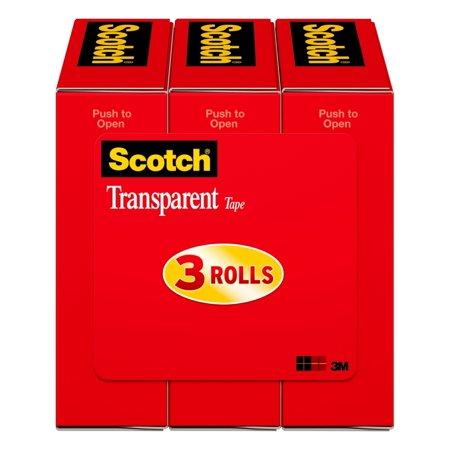 Scotch Transparent Tape, 3/4 in. x 1000 in., 3 Boxes