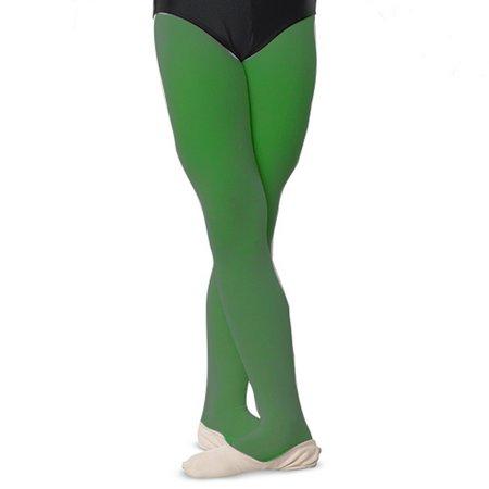 Danshuz Girls Kelly Green Comfortable Dance Nylon Stretch Tights 6X-14 - Kelly Green Tights