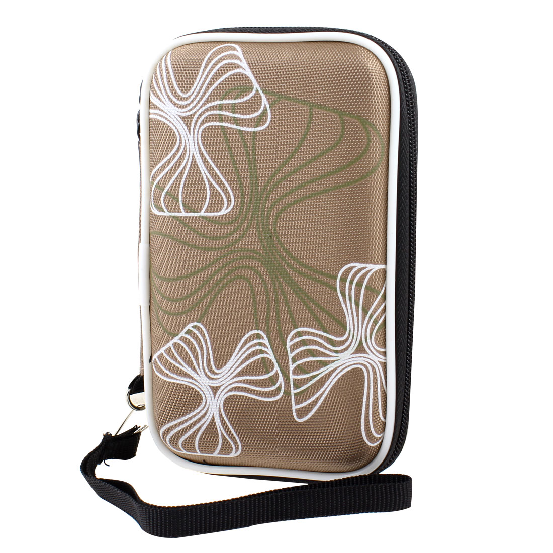 "Unique Bargains Khaki Carrying Case Cover Bag Pouch Zip-up Wallet for 2.5"" Hard Drive Disk"