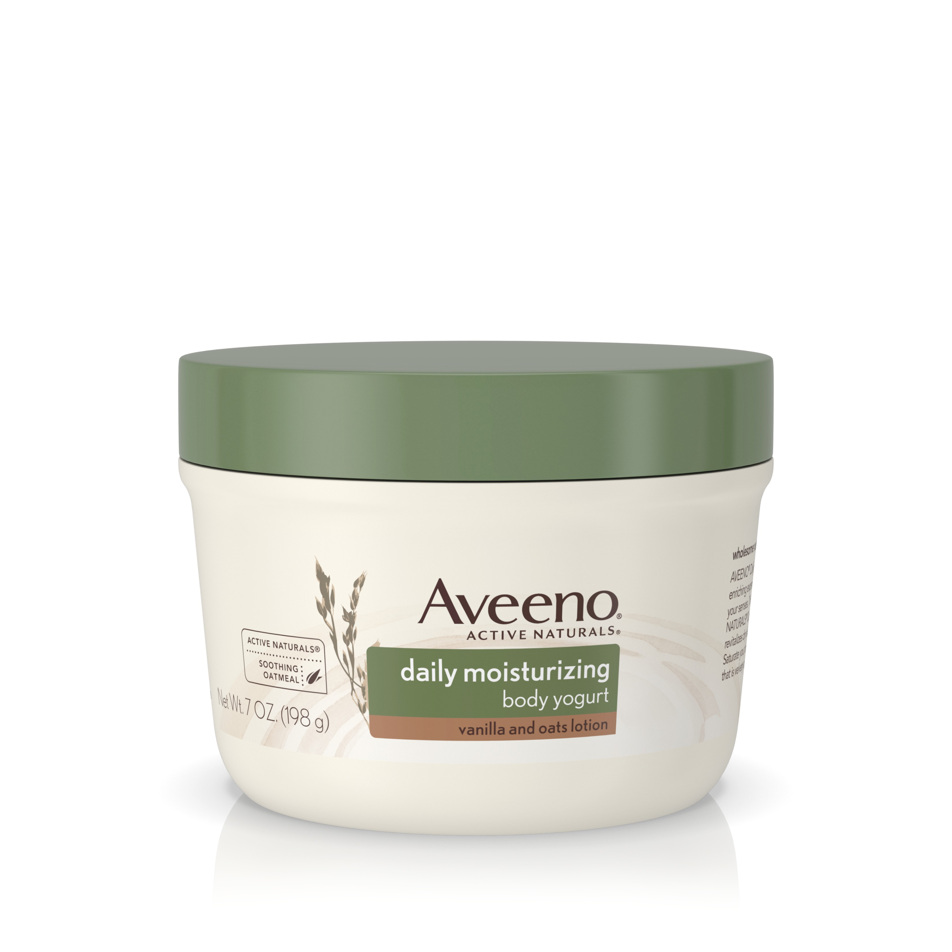 Aveeno Active Naturals Daily Moisturizing Body Yogurt Moisturizer, Vanilla And Oats, 7oz - Walmart.com