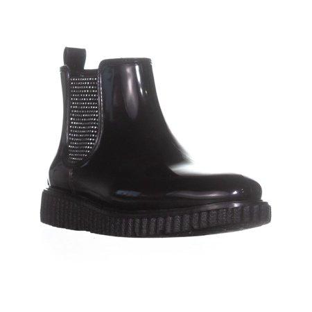 Michael Kors Rain Boots - Womens MICHAEL Michael Kors Lulu Slip-On Rainbooties, Black, 6 US / 36 EU