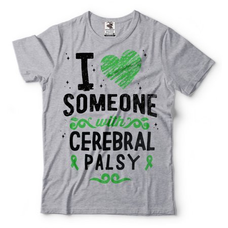 I Love Someone Wirh Cerebral Palsy T Shirt Cerebral Palsy Awareness Tee Shirt