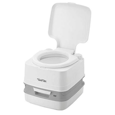 Thetford 92861 Porta Potti 135 White 2.6 Gallon Outdoor Toilet with Hold Down Kit