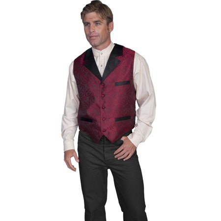 Mens Smoking Jacket (Scully Old West Vest Mens Authentic Smoking Jacket Design)