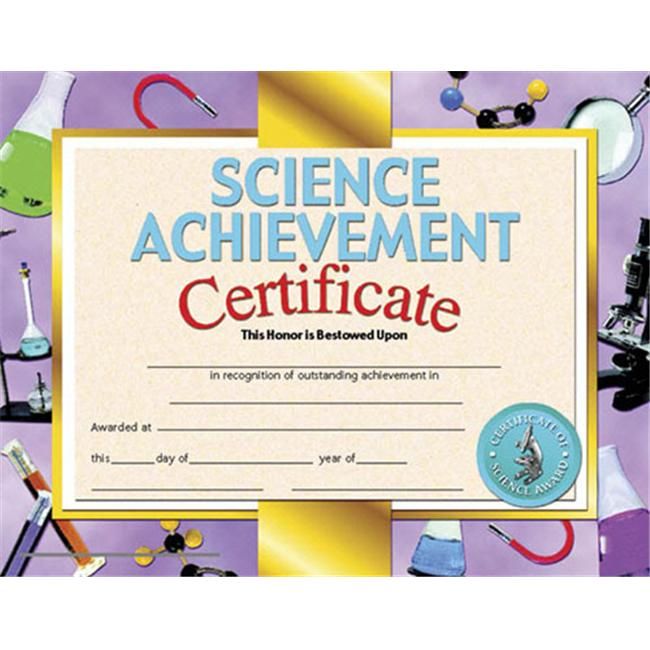 Hayes School Publishing H Va671 Certificates Science Achievement 36