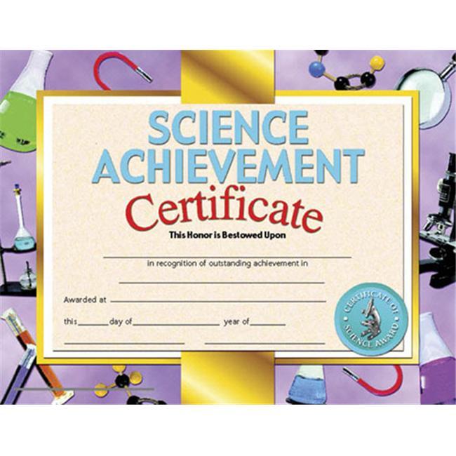 HAYES SCHOOL PUBLISHING H-VA671 CERTIFICATES SCIENCE ACHIEVEMENT-36/PK 8-1/2 X 11 INKJET/LASER