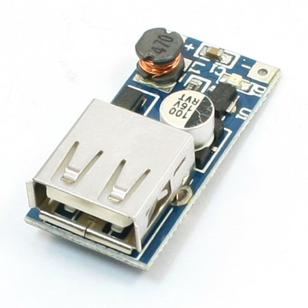Unique Bargains DC-DC Converter Step Up Boost Module 0.9V to 5V 600mA USB Charger for MP3 MP4