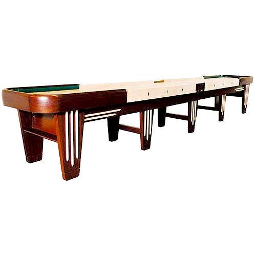 Venture 16 Foot Black River Chicago Sh... Shuffleboard Table Buffet Insert:  No