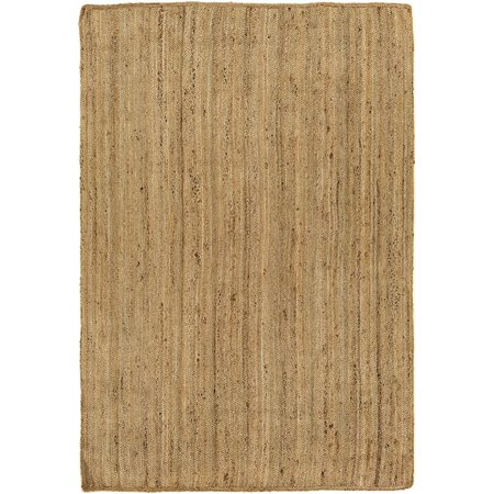 Natural Fiber Brice Collection Area Rug in Neutral-Brown and Oval, Rectangle, Round, Runner Shape
