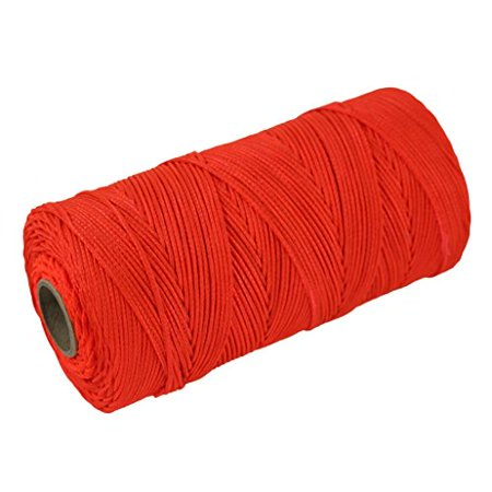 Mason Twine (Braided Nylon Mason Line #18 - SGT KNOTS - Moisture, Oil, Acid, Rot Resistant - Twine String Masonry, Marine, DIY Projects, Crafting, Commercial, Gardening use (1,000 feet - Fluorescent Orange))