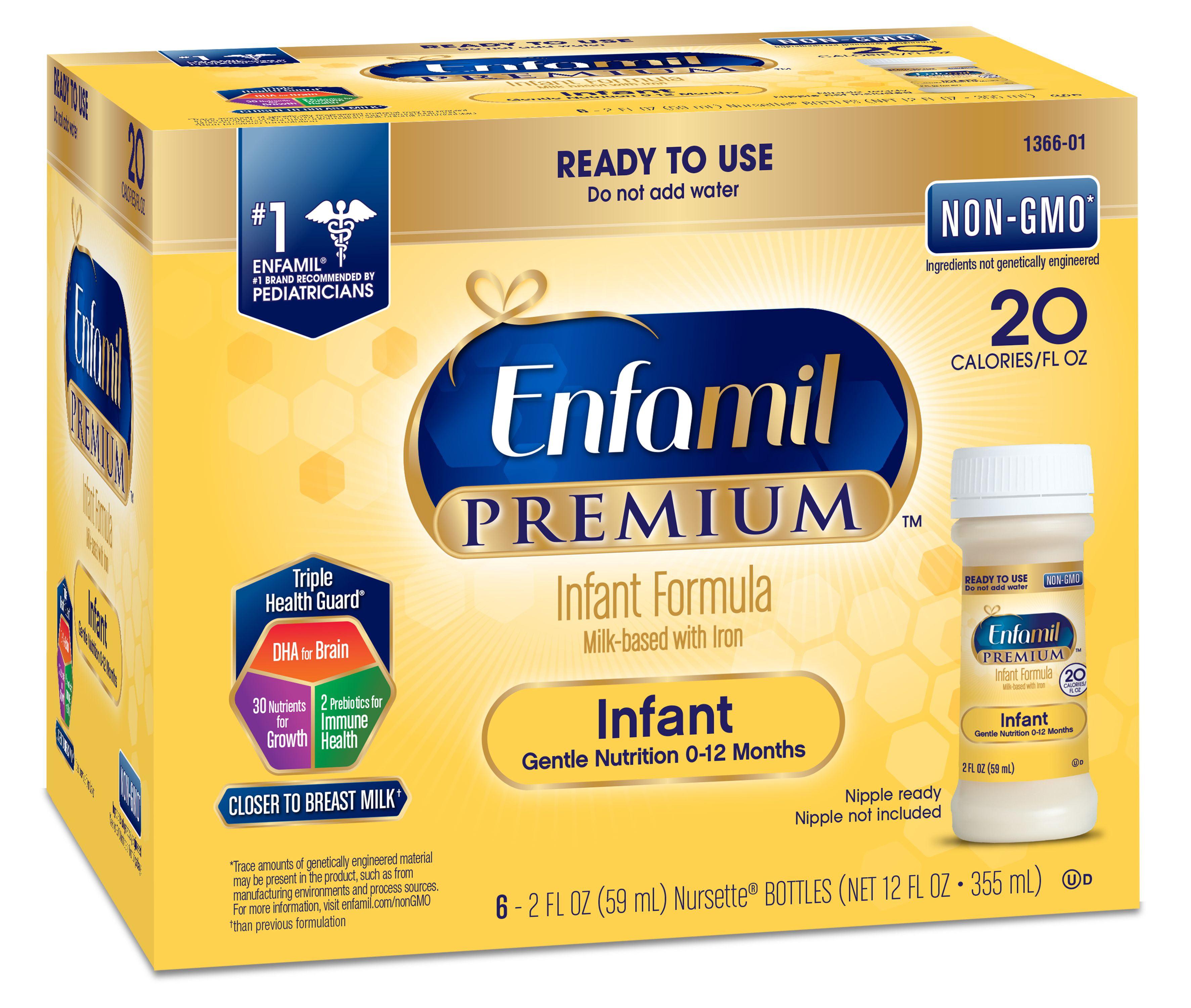 Order Enfamil A Gentlease Baby Formula, Ready To Feed Bottles, Nipple