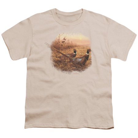 Wildlife/First Alert Pheasants   S/S Youth 18/1   Natural     Ww270