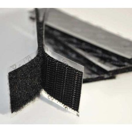"VELCRO BRAND 1"" W x 4"" L Hook-and-Loop Black Reclosable Adhesive Fastener Strip, 50 pk., G1X4K72"
