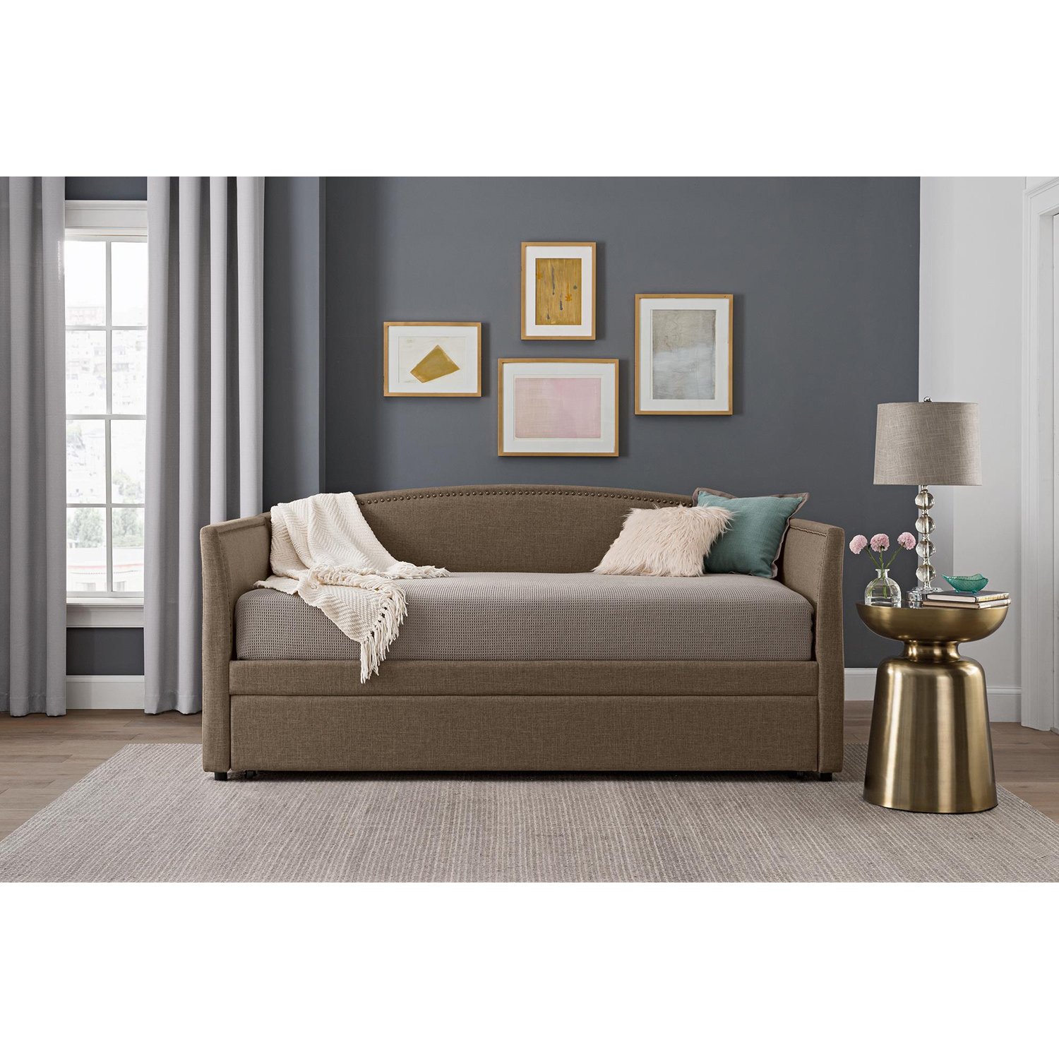 Better Homes and Gardens Grayson Linen Day Bed and Trundle Twin, Multiple Colors by Dorel Home Products