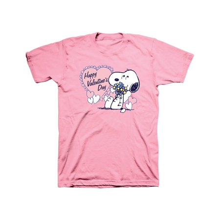 Snoopy Valentines Day (Peanuts Snoopy Valentine's Day T-Shirt, Hearts & Flowers)