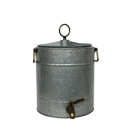 Better Homes & Gardens Galvanized Dispenser with Divider Lid