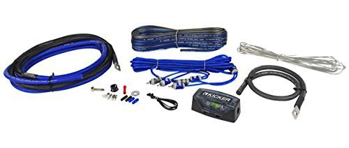 Kicker ZCK4 Refurbished (09ZCK4) Complete 4 Gauge Z-Series Amp Installation on rockford fosgate wiring kit, jl audio wiring kit, kicker amp with 8, 0 gauge amp kit,