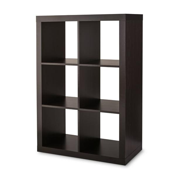Better Homes & Gardens 6-Cube Storage Organizer, Espresso