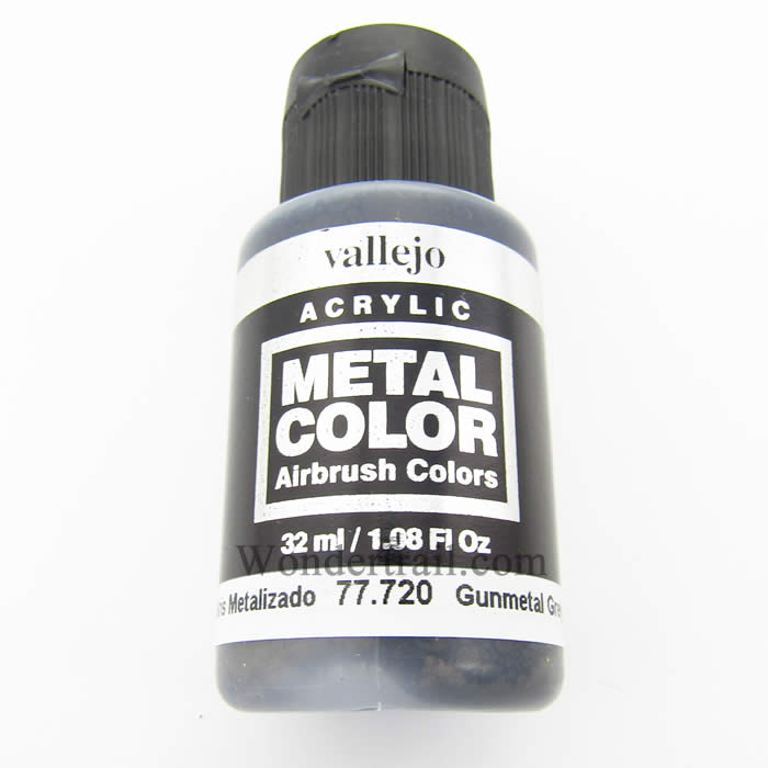 Gunmetal Grey Metal Color 32ml Bottle Vallejo Model Paint