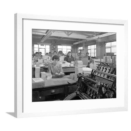 The Binding Room at the White Rose Press Printing Co, Mexborough, South Yorkshire, 1959 Framed Print Wall Art By Michael