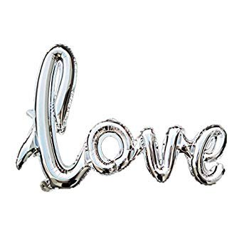 Halloween Wedding Proposal (33 x 24 Inch Handwriting Love Balloon Banner Romantic Letters Script Love for Marriage Proposal Engagement Bridal Shower Wedding Anniversary Party Decor)
