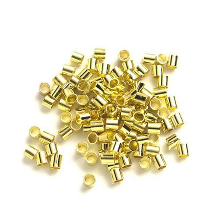 (Crimp Tube Beads, Gold)