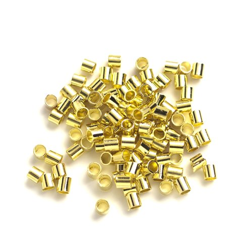 Crimp Tube Beads, Gold